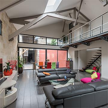 r alisations d 39 architectes loft r novation extension sur rennes ille et vilaine. Black Bedroom Furniture Sets. Home Design Ideas