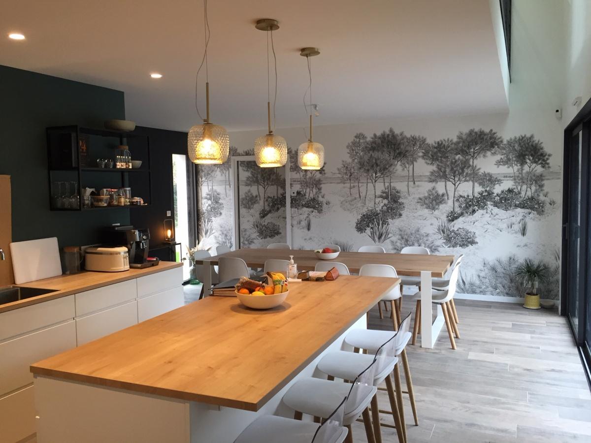 CONSTRUCTION D'UNE MAISON DE VACANCES : cuisine