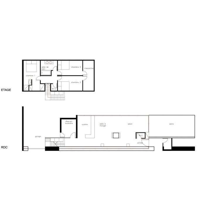 Maison C : plan