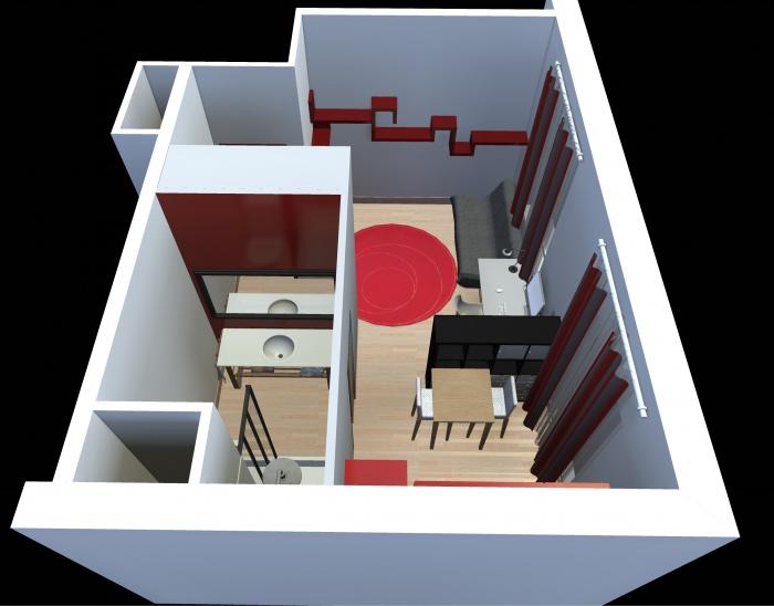 Aménagement intérieur d'un studio : appart_03