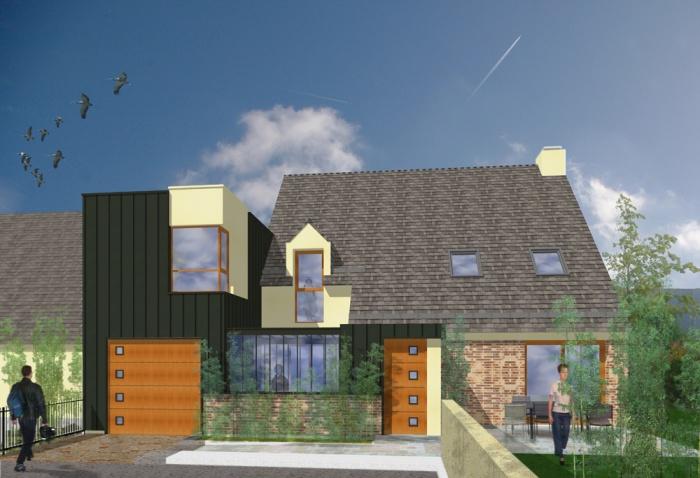 Aménagement intérieur et extension d'une maison individuelle