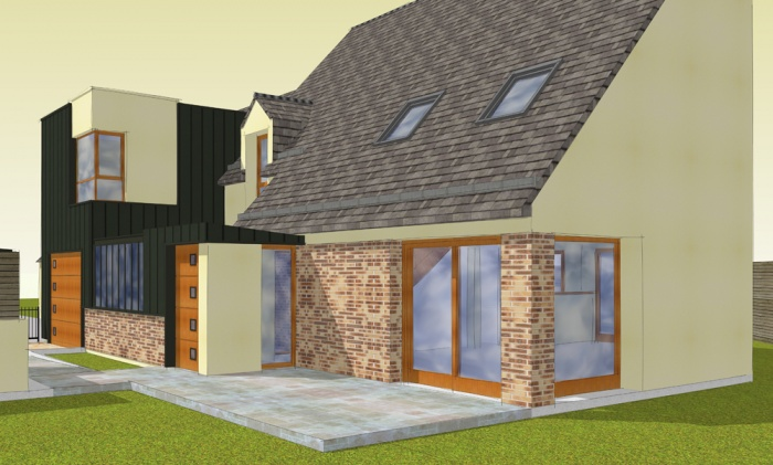 Aménagement intérieur et extension d'une maison individuelle : Bruz2