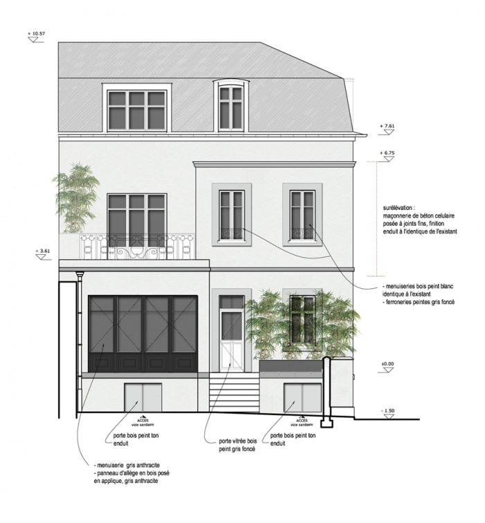extension et surelévation d'une maison