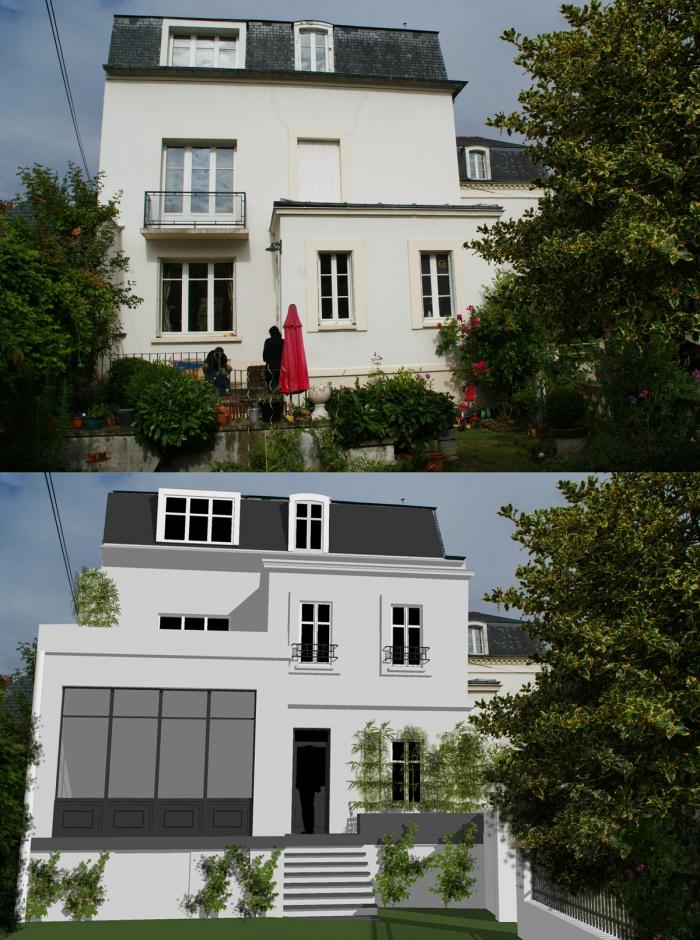 extension et surelévation d'une maison : avant après