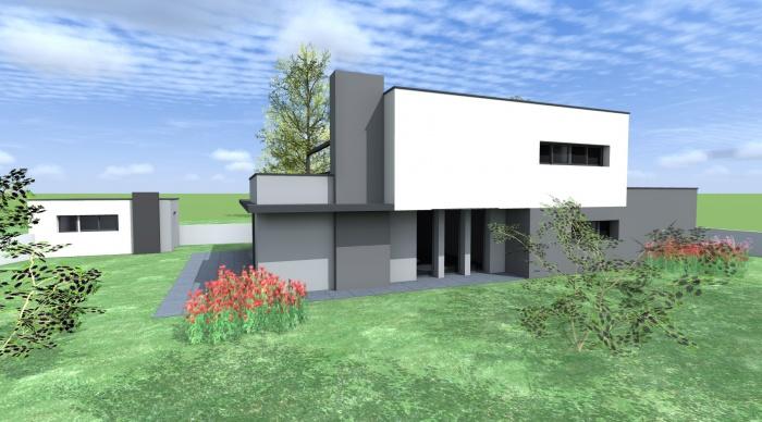 Maison neuve - Projet B+B : vue 3
