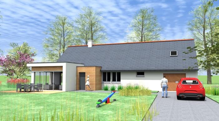Extension - Projet G+Q : 3- extension architecte Lise roturier ossature bois bardage bois