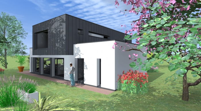 Maison neuve projet l p acign une r alisation de 1 2vue for Maison neuve projet