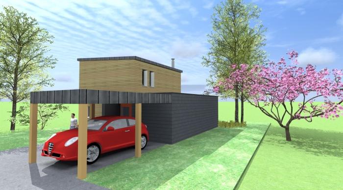 Maison neuve projet b orgeres une r alisation de 1 2vue for Maison neuve projet