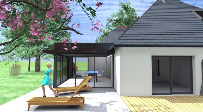 Extension De Maison Avec Toit Plat Maison En Ossature