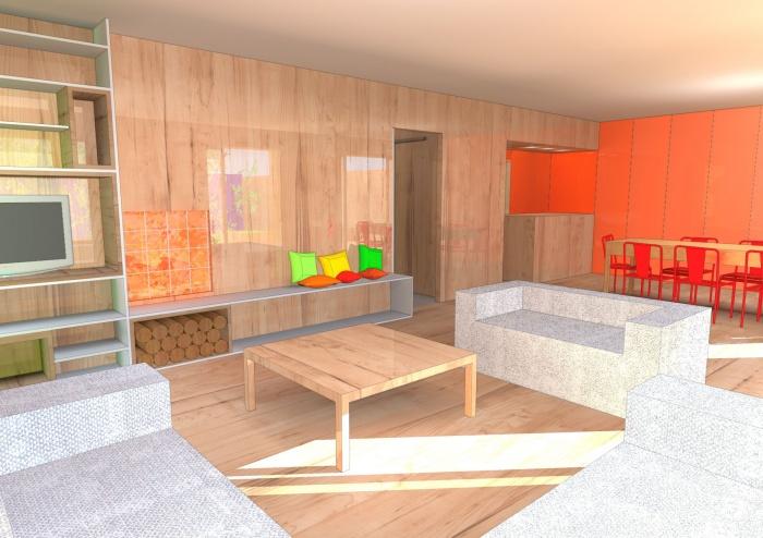 Réaménagement d'une maison Individuelle : Salon_séjour