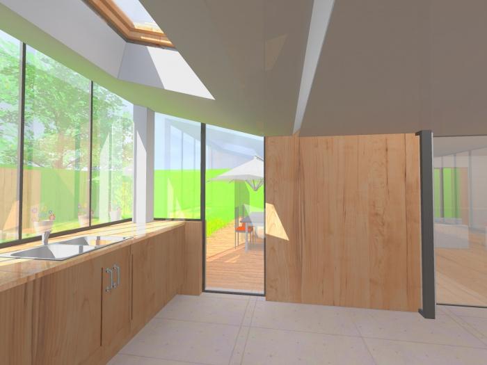 Extension d'une maison : intérieur