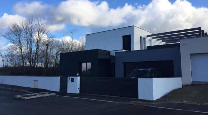 Maison neuve projet b b noyal sur vilaine for Architecte d interieur caen