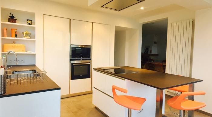Extension - Projet R : 4- Extension etage cuisine moderne toit plat rennes architecte rennes architecte 2.2 vues lise roturier architecte dplg 35